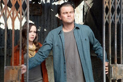 Ellen Page and Leonardo DiCaprio in Inception