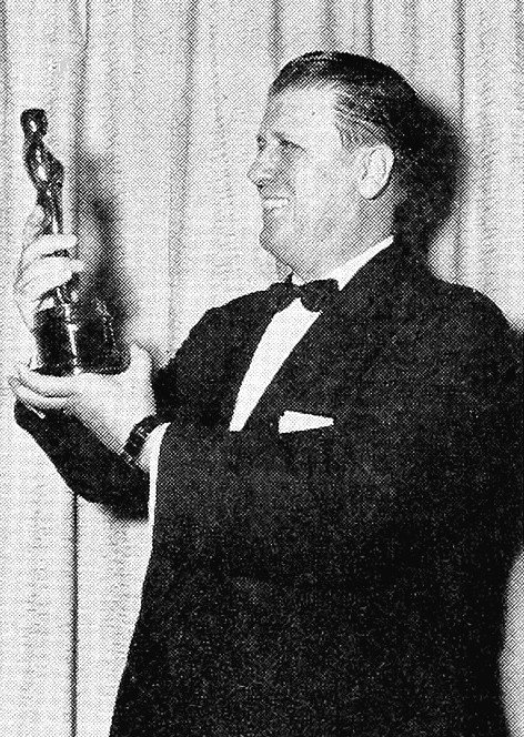 George Stevens with his Best Director Oscar for the film Giant