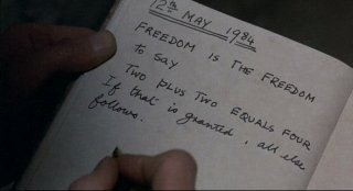 Notebook from the film 1984