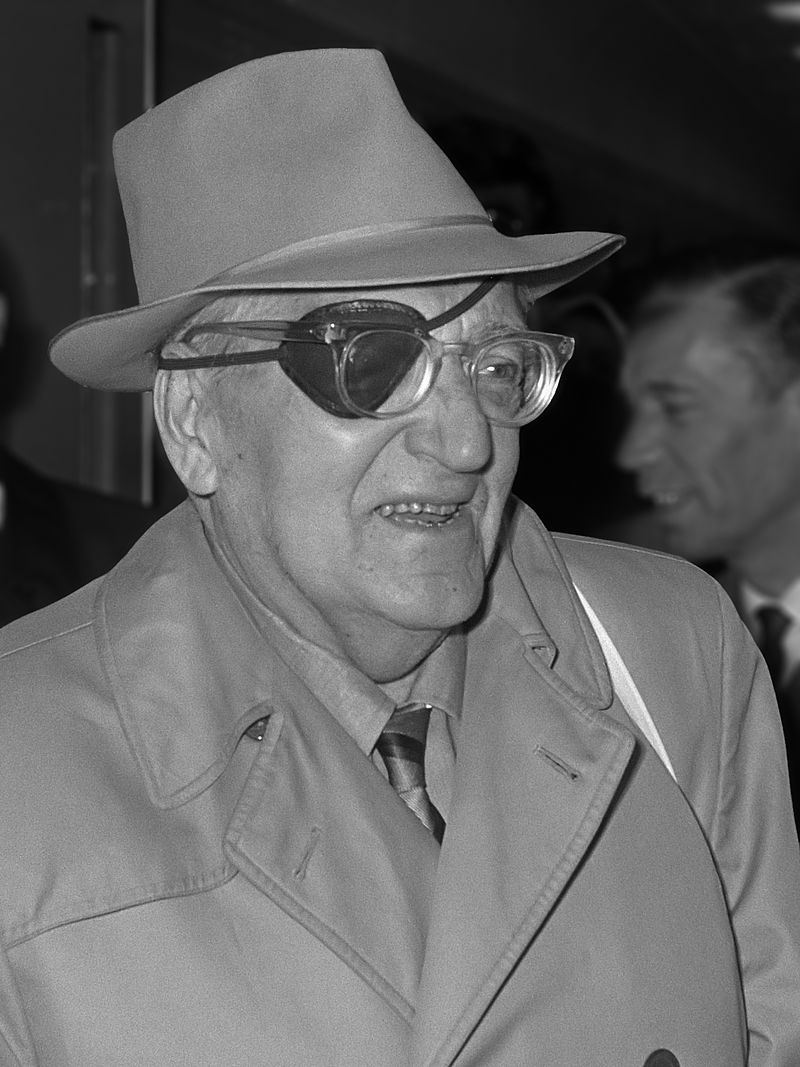 Movie director Fritz Lang, aged 79, arrives in Schiphol. April 10th, 1969