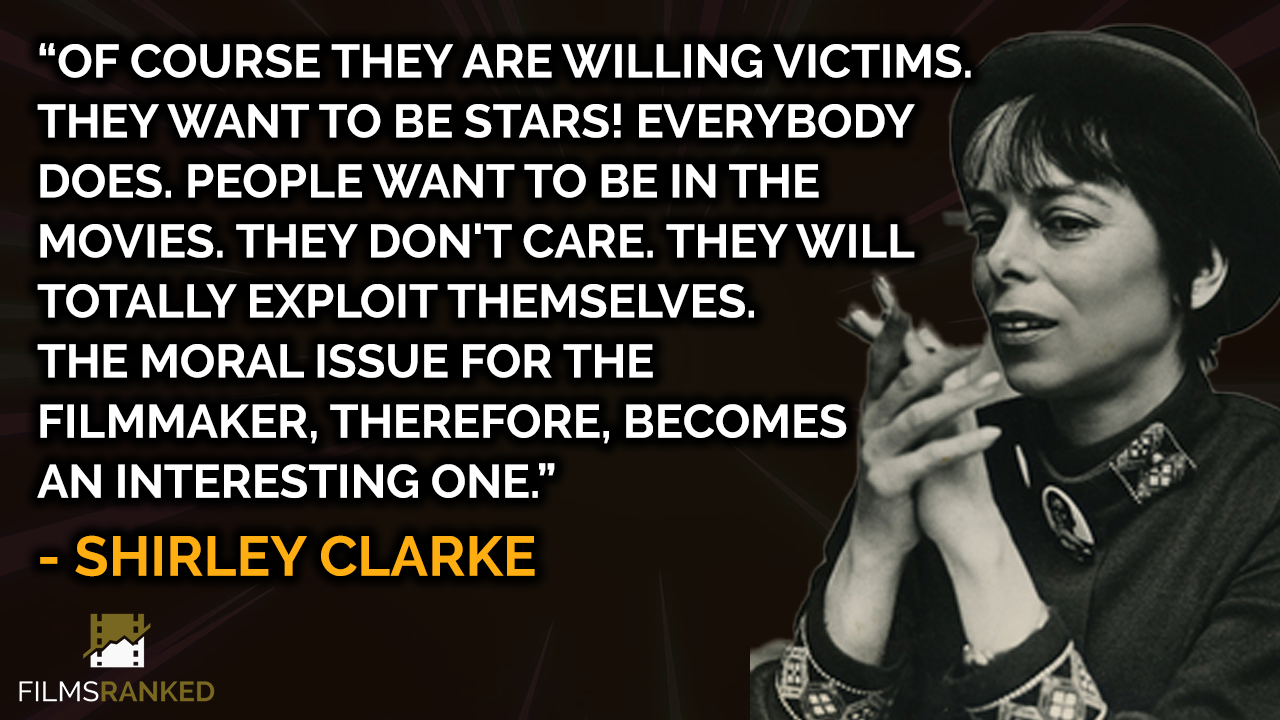 Shirley Clarke quote on documentaries